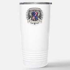 Male Breast Cancer Vic Travel Mug