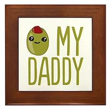 Olive My Daddy Framed Tile