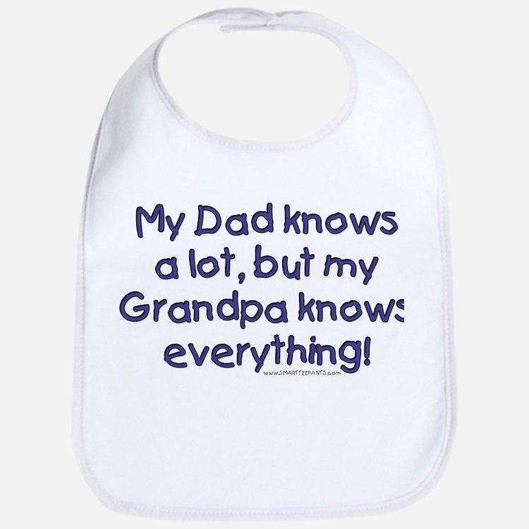 Cute Grandpa sayings Bib
