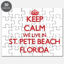 Keep calm we live in St. Pete Beach Florida Puzzle