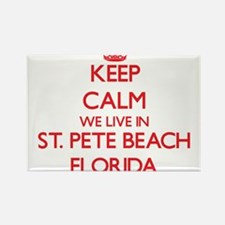 Keep calm we live in St. Pete Beach Florid Magnets