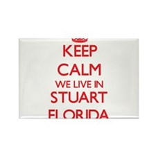 Keep calm we live in Stuart Florida Magnets
