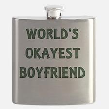 World's Okayest Boyfriend Flask