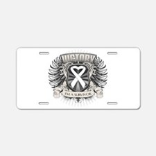Lung Cancer Victory Aluminum License Plate