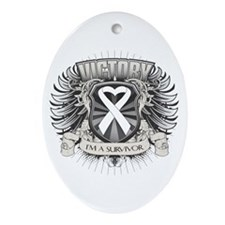 Lung Cancer Victory Ornament (Oval)