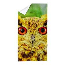 Artistic Owl Beach Towel