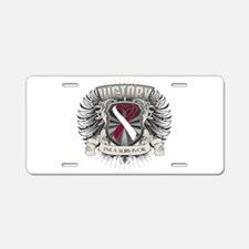 Head Neck Cancer Victory Aluminum License Plate