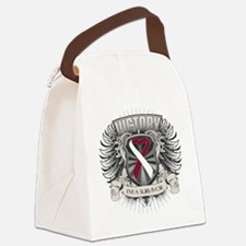 Head Neck Cancer Victory Canvas Lunch Bag