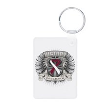 Head Neck Cancer Victory Aluminum Photo Keychain