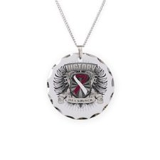 Head Neck Cancer Victory Necklace Circle Charm