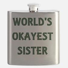 World's Okayest Sister Flask