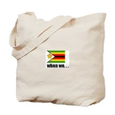Zimbabwean Flag Tote Bag