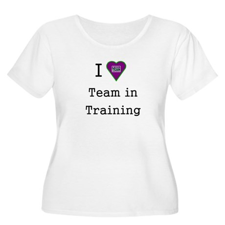 heart team in training purple Women's Plus Size Sc