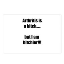 Arthritis is a bitch..but Postcards (Package of 8)