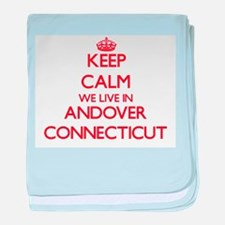 Keep calm we live in Andover Connecti baby blanket