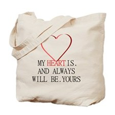 My Heart is Yours Tote Bag