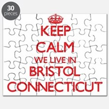 Keep calm we live in Bristol Connecticut Puzzle