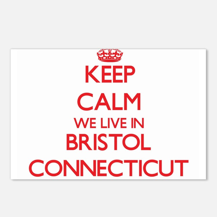 Keep calm we live in Bris Postcards (Package of 8)
