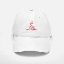 Keep calm we live in Bristol Connecticut Baseball Baseball Cap