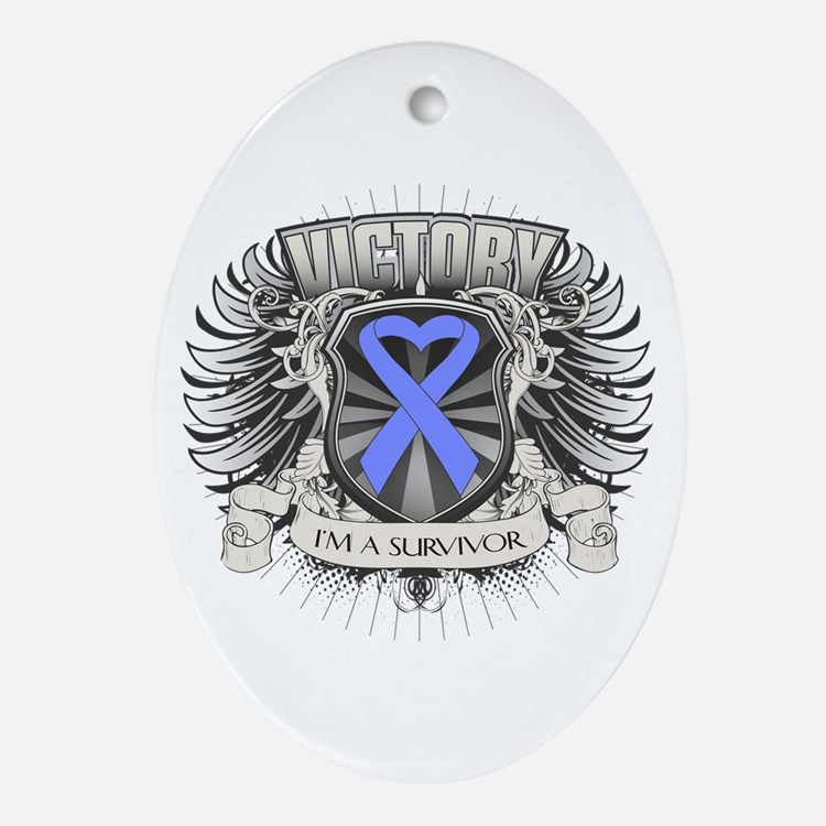 Esophageal Cancer Victory Ornament (Oval)