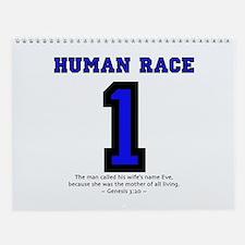 1 Human Race - Wall Calendar