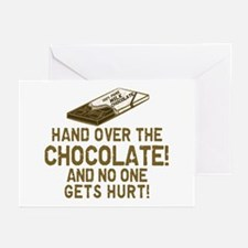 Hand over the CHOCOLATE! Greeting Cards (Package o