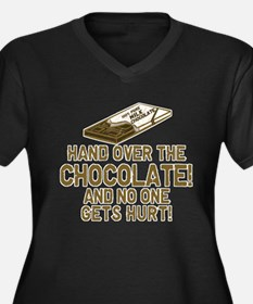 Hand over the CHOCOLATE! Women's Plus Size V-Neck