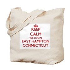 Keep calm we live in East Hampton Connect Tote Bag