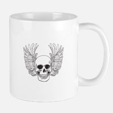 SKULL AND WINGS OPEN Mugs