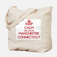 Keep calm we live in Manchester Connectic Tote Bag