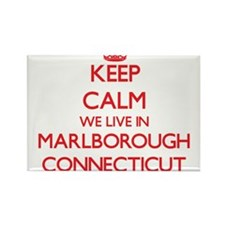Keep calm we live in Marlborough Connectic Magnets