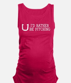 I'd Rather Be Pitching Maternity Tank Top