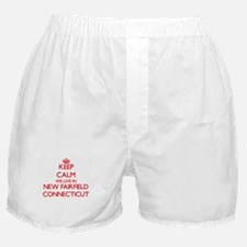 Keep calm we live in New Fairfield Co Boxer Shorts