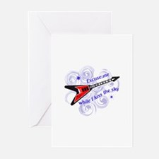 KISS THE SKY Greeting Cards