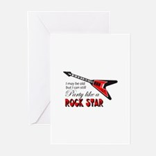 PARTY LIKE A ROCK STAR Greeting Cards