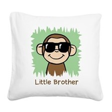 Little Brother Monkey Square Canvas Pillow