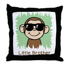 Little Brother Monkey Throw Pillow