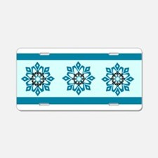 Snow Flower Aluminum License Plate