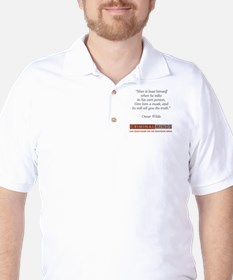 OSCAR WILDE QUOTE Golf Shirt
