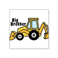 "Big Brother Backhoe Square Sticker 3"" x 3"""
