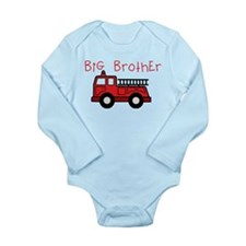 Big Brother Fire Truck Long Sleeve Infant Bodysuit