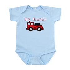 Big Brother Fire Truck Infant Bodysuit