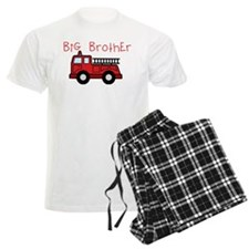 Big Brother Fire Truck pajamas