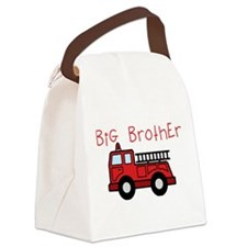 Big Brother Fire Truck Canvas Lunch Bag