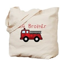 Big Brother Fire Truck Tote Bag