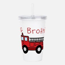 Big Brother Fire Truck Acrylic Double-wall Tumbler