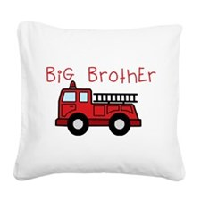 Big Brother Fire Truck Square Canvas Pillow