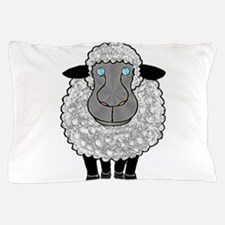 Blue Eyed Wooly Sheep Pillow Case