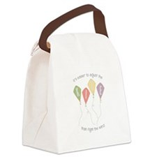 Adjust the kite Canvas Lunch Bag