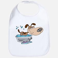 Saturday Night Dog Bath Bib